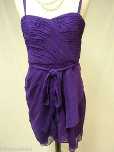 J Crew Silk Chiffon Dress Size 6 Purple | eBay