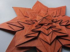 FRACTAL by Origami Roman, via Flickr.  Fold diagram is previous picture in stream.