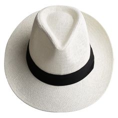 e1069719421 Men Women Travel Black Ribbon Sunhat Panama Wide Brim Trilby Straw Hat is  designer