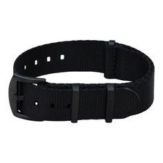 AlphaShark - Black Seat Belt Watch Strap - BluShark
