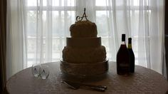 Our wedding cake! Bryan and Samantha Andress's wedding at Fountainview Mansion in Auburn, AL. 03/29/2014
