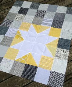 Favorite Things: Star Bright Baby Quilt - Swim, Bike, Quilt!