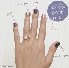 gorgeous ring and sparkly polish to match! {click through for the polish colors}