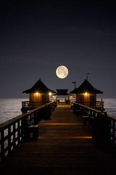 Full moon....Naples, Florida