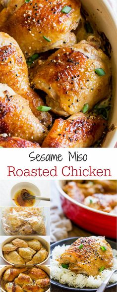 Juicy, tender and irresistibly flavorful sesame miso chicken is roasted to golden crispy perfection. Easy and delicious dinner with less than 10 minutes of hands-on time.