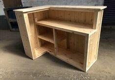 Wood Bar Top, Home Bar Designs, Pallet Bar, Interiores Design, Rustic Furniture, Man Cave, Woodworking Projects, Basement Bars, Desk