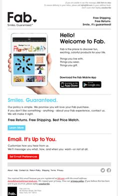 Fab welcome email Dec 2013
