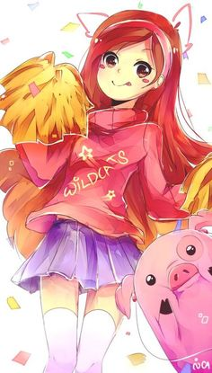 Wildcats discovered by Solo_Maximoff on We Heart It Imagem de gravity falls, mabel, and anime Gravity Falls Anime, Gravity Falls Fan Art, Reverse Gravity Falls, Reverse Falls, Gravity Falls Waddles, Low Gravity, Dipper X Mabel, Mabel Pines, Cartoon As Anime