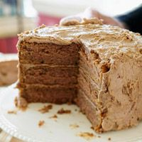 You choose how to flavor the frosting for this rich three-layer dessert.