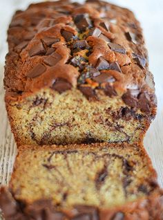 Rich Dark Chocolate Peanut Butter Banana Bread - Recipe, Cakes, Desserts, Vegetarian