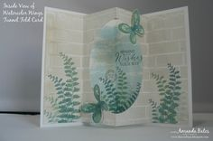 The Craft Spa - Stampin' Up! UK independent demonstrator : Watercolor Wings Tunnel Fold Card