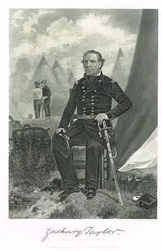 """Presidents of the United States - """"ZACHARY TAYLOR"""" - Steel Engravings - 1881"""