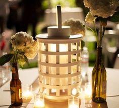 White Wicker Lanterns...cool
