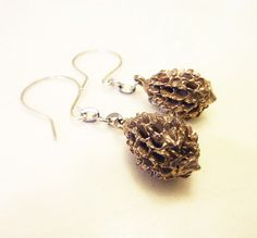 Podcast Earrings Handcast Bronze or Sterling by RedAvaDesigns, $48.00