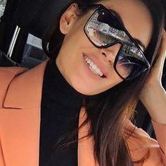 0525b8ca4f RSSELDN Square Oversized Sunglasses Women Fashion Sun Glasses Lady Brand  Designer Vintage Shades Gafas Oculos de sol UV400