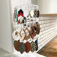 Leather earring storage