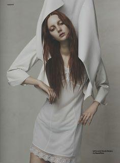 Codie Young by Nhu Xuan Hua #fashion #editorial #white