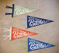 Image result for custom pennants screen print