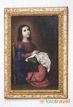 La Virgen Niña cosiendo y orando...bordando y orando...