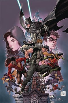 Batman and Robin Eternal - I cannot begin to express how much I love this cover