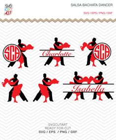 Salsa Bachata Dancer tango SVG DXF PNG eps Dancing Cut Files for Cricut Design, Silhouette studio, Sure Cut Lot, Makes Cut by SvgCutArt on Etsy