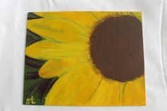 want... Original Sunflower Painting Small by SamanthaTroupDesigns on Etsy, $9.00