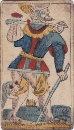 The Fool - Tarot / early 1800's.