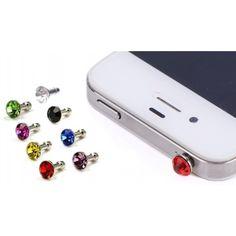 Dekorativt smykke. Et dekorativt smykke til dig der kan lide, at give din smartphone lidt mere stil. Det er et meget elegant og stilrent smykke til få penge. Vælg mellem otte forskellige smykker. Dette flotte smykke kan findes under iPhone tilbehør og iPad tilbehør. Desuden beskytter dette smykke også din tablet / telefon ved, at der ikke kommer støv ind via jack-stikket.