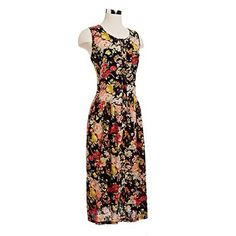 $45 90s Floral Strap Back Dress | NiftyThrifty - Rare Finds Everyday