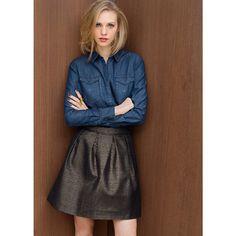 Jeanshemd, leichte Ausführung, lange Ärmel R édition Online Fashion, Jeans, Envy, Midi Skirt, Shops, Skirts, Style, Dungarees, Womens Fashion
