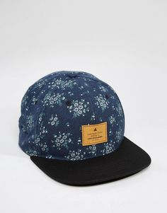 Image 1 of ASOS Snapback Cap With Floral Print