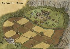 """Coloured version of the map I did for the DCC Adventure """"Trolls of Mistwood"""" by *DavidWFisher B/W version here:"""