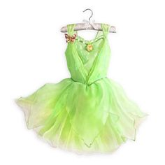 NEW NWT DISNEY STORE TINKERBELL FAIRIES COSTUME DRESS GOWN GIRLS SPRING 2014