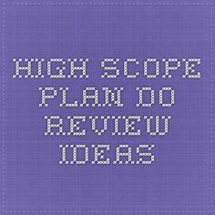High Scope Plan Do Review Ideas
