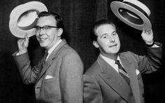 Eric Morecambe and Ernie Wise in 1954 Comedy Duos, Comedy Tv, British Comedy, British Actors, Morecambe, Classic Comedies, Laurel And Hardy, Bbc Tv, Funny People