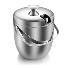 Ice Bucket,Insulated Stainless Steel Double Walled Ice Bucket with Lid,Stainless Steel Ice Tongs Steel Bucket, Wine Chillers, Bucket With Lid, Ice Tongs, Bar Tools, Brushed Stainless Steel, Wine Cellar, Kitchen Dining, Dining Room