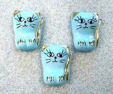 3 Czech Glass Buttons #G006 - 30 mm - UNIQUE!! CATS!!!!