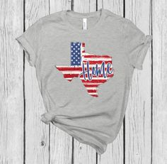 Texas T-shirt Texas Home Patriotic Flag Home T-shirt Red T Shirt Rot, Lgbt T Shirts, Banner, Fourth Of July Shirts, Home T Shirts, Handmade Shop, Etsy Handmade, Handmade Gifts, Texas Homes