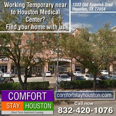 Apartment Lease, Furnished Apartments, Medical Center, Houston, Vacation, Renting, Vacations, Holiday, Holidays