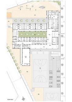 """Architect Juan Blázquez - Sustainable Architecture - College """"The Secret Garden . University Architecture, Education Architecture, School Architecture, Architecture Plan, School Floor Plan, School Plan, School Jobs, School Ideas, The Secret Garden"""