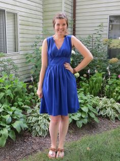 the quirky peach: Royal Blue Wedding Guest Dress -  Simplicity 1801