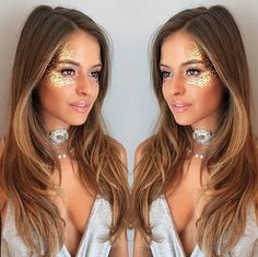 Gold festival glitter