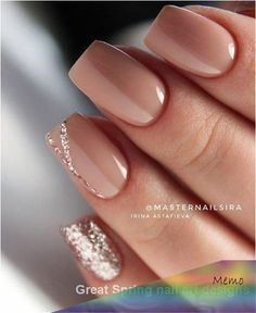 Want some ideas for wedding nail polish designs? This article is a collection of our favorite nail polish designs for your special day. Wedding Nail Polish, Wedding Nails Design, Nail Wedding, Wedding Makeup, French Nail Designs, Nail Designs Spring, Spring Nail Colors, Spring Nails, Nail Manicure