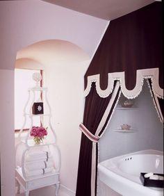 Interior Design, Bathrooms, Black and White