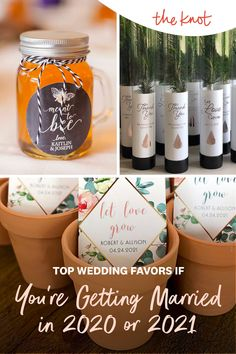 Looking for wedding favor ideas for your 2020 or 2021 wedding? Check out these top picks for wedding favors from The Knot editors and find everything from seed wedding favors to s'more wedding favors made to match your big day. Personalize your wedding and put a spin on tradition with The Knot's customizable wedding websites, wedding invitations, registry. Not sure where to start? Get ideas and advice from our editors on everything from wedding colors and venue types to all things guest. Seed Wedding Favors, Creative Wedding Favors, Wedding Website, Unique Weddings, Big Day, Spin, Wedding Colors, Getting Married, Knot