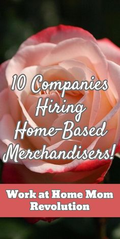 10 Companies Hiring Home-Based Merchandisers! / Work at Home Mom Revolution