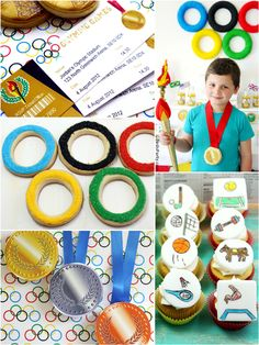 THE Best Olympics Inspired Party Ideas, Recipes and Crafts!! by Bird's Party #Olympics #PartyIdeas #OlympicGames