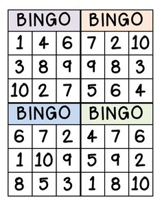 Bingo for Numbers Great for preschool number identification. Number Games Preschool, Teaching Numbers, Numbers Kindergarten, Preschool Learning Activities, Teen Numbers, Numbers 1 10, Numbers For Kids, Math Numbers, Gaming