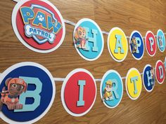 Paw Patrol Banner - Paw Patrol Party - Paw Patrol Birthday -  Paw Patrol Decorations - Paw Patrol Theme - Name Banner - Happy Birthday by TylerGraceCo on Etsy https://www.etsy.com/listing/476202852/paw-patrol-banner-paw-patrol-party-paw
