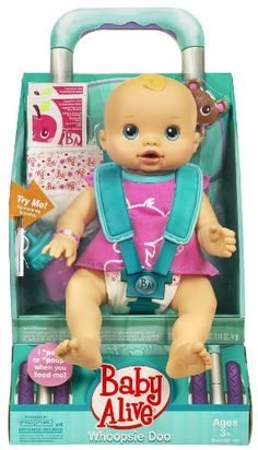 Amazon.com: Baby Alive Whoopsie Doo Doll (Caucasian Girl): Toys & Games Baby Alive Doll Clothes, Bitty Baby Clothes, Baby Alive Dolls, Newborn Boy Clothes, Baby Dolls, Little Girl Toys, Baby Girl Toys, Toys For Girls, Kids Toys